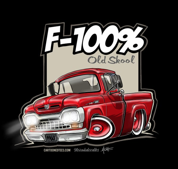 Image of '60 F100% Fleetside Red
