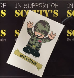 Image of #ScottysDay 'ARMY' Tattoo