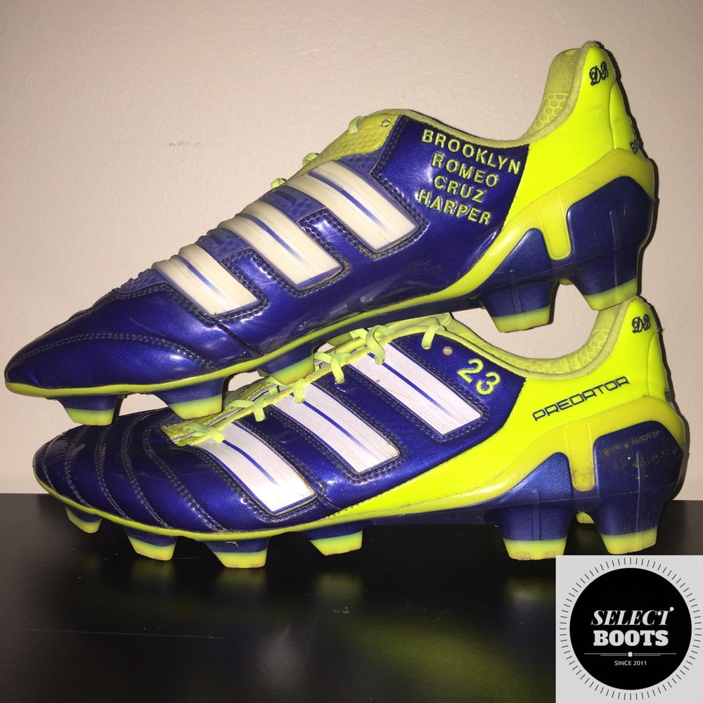 sneakers for cheap 07478 71cd3 Image of David Beckham Match Worn Adidas Predator AdiPower Boots