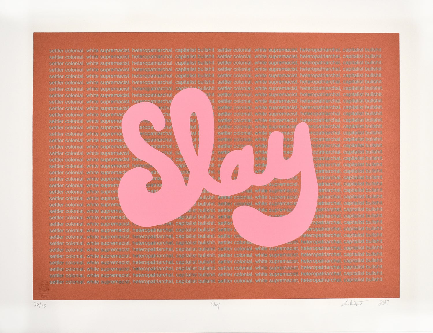 Image of Slay, Serigraph by Kimberly Robertson