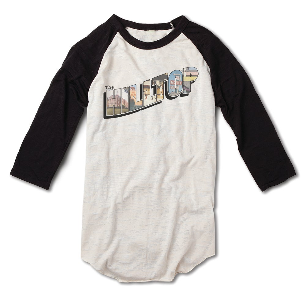 Image of Hilltop Postcard Baseball Tee