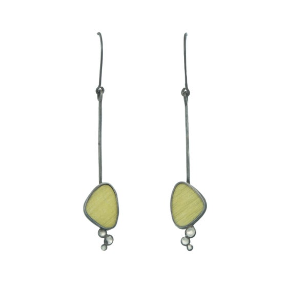Image of Green Triangle Earrings