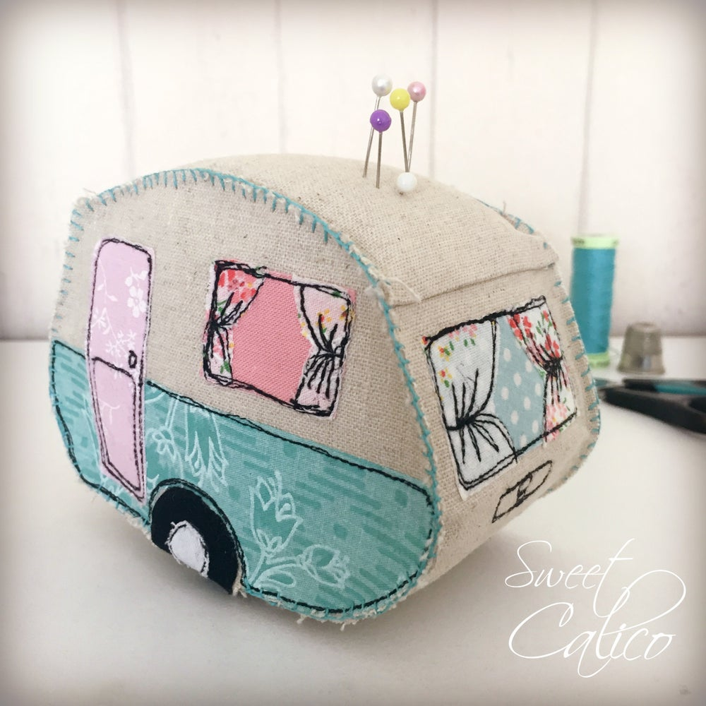 Image of Vintage van pincushion pattern