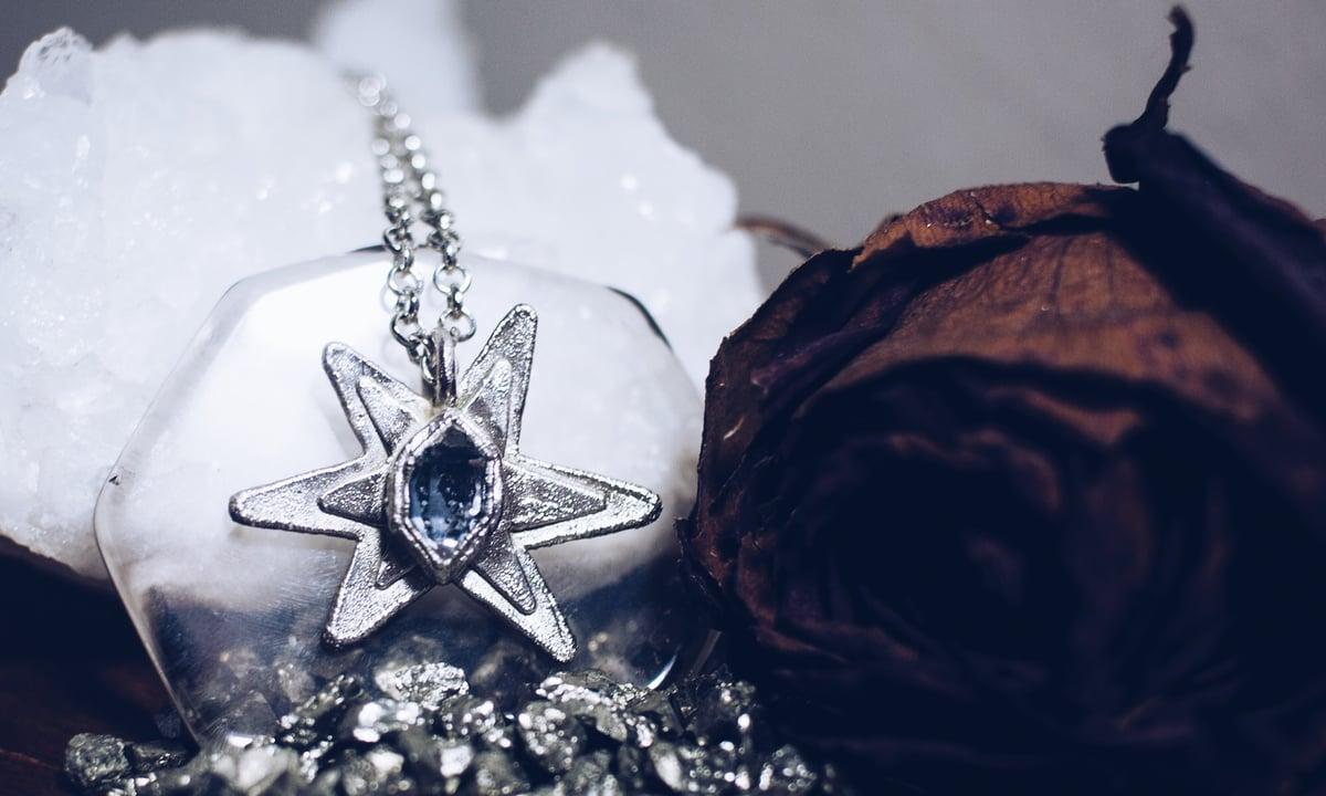 Image of Nebula Herkimer Diamond Necklace
