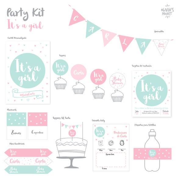 Image of Party Kit Baby Shower Impreso