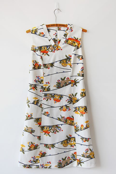 Image of SOLD Enchanted Mushroom Forest Dress