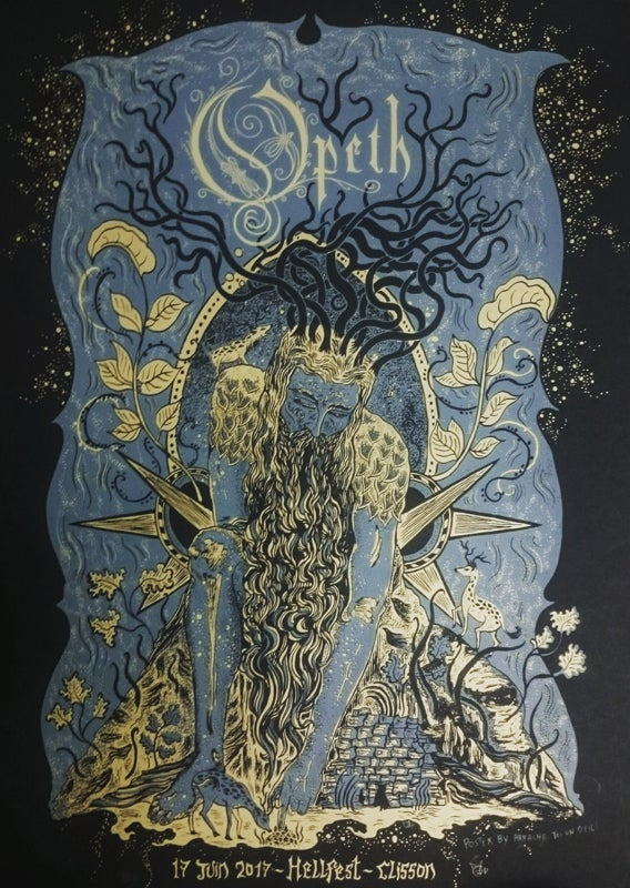 OPETH (Hellfest 2017) screenprinted poster