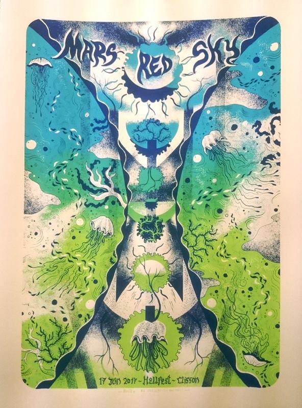 MARS RED SKY (Hellfest 2017) screenprinted poster