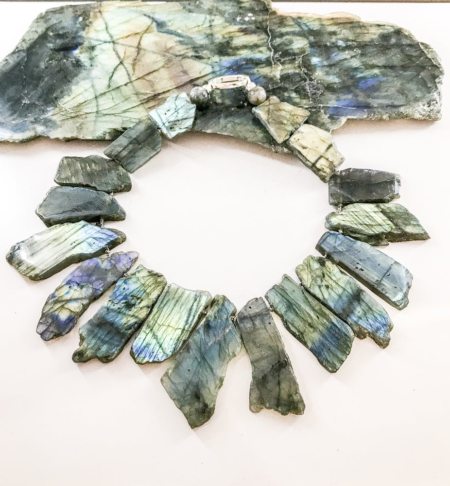 Image of Statement Labradorite Necklace