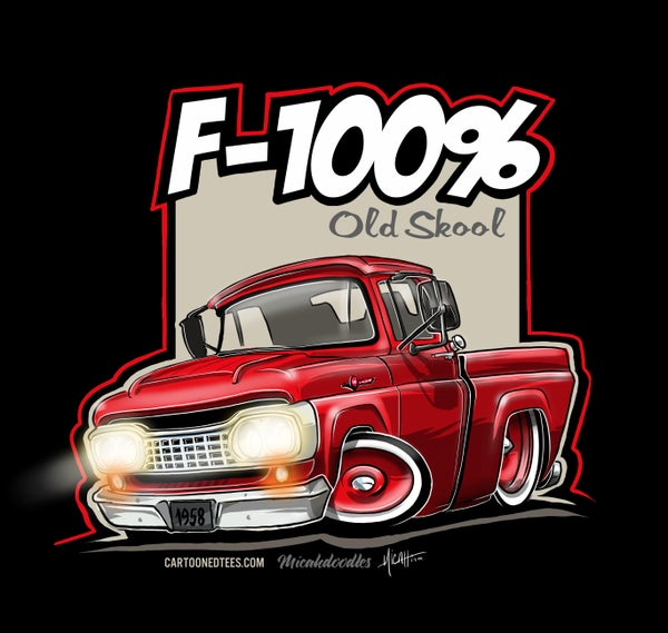 Image of '58 F100% Fleetside Red