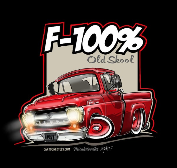 Image of '57 F100% Fleetside Red