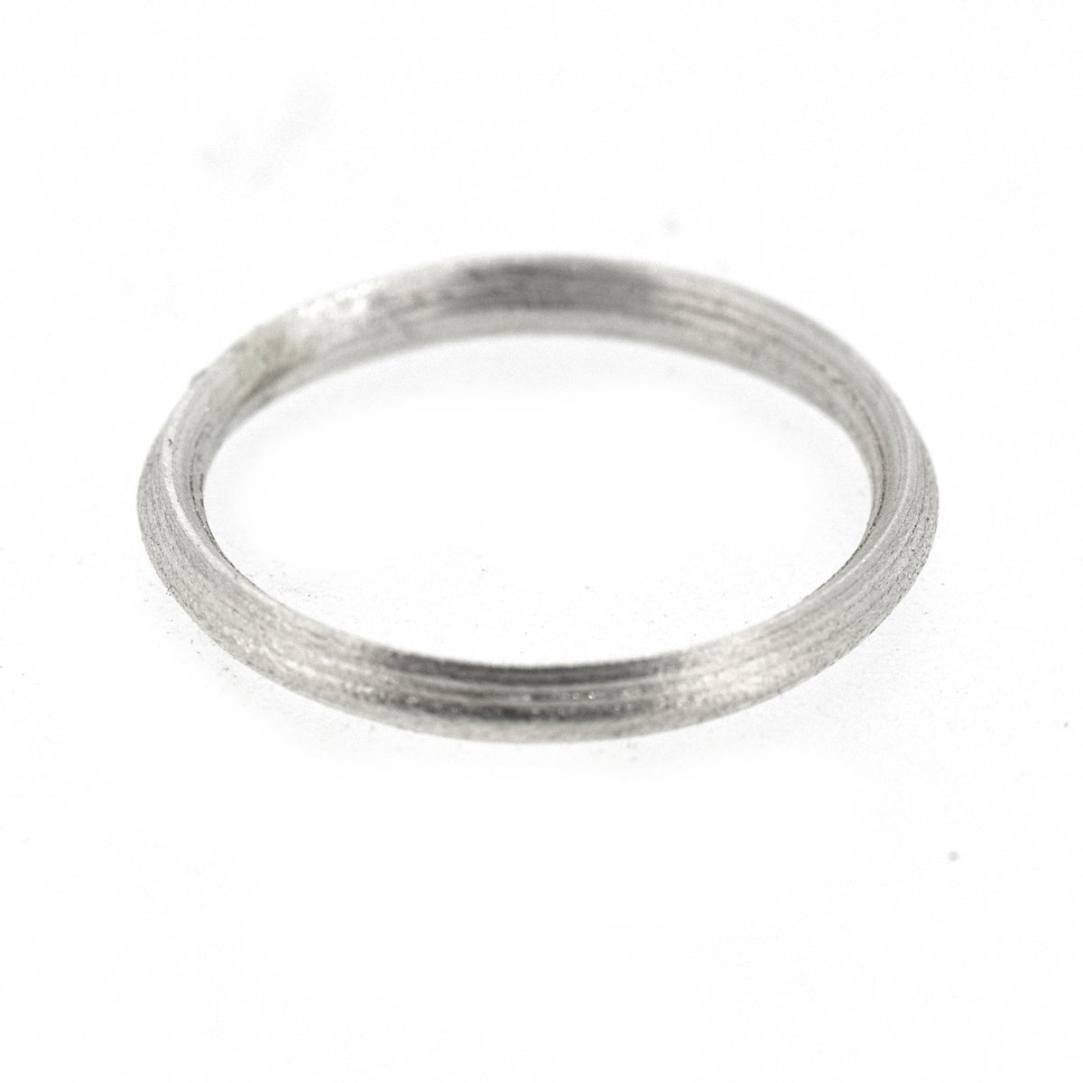 Sterling Silver Round 'Strata' Ring. 3.3mm diameter dome shaped band