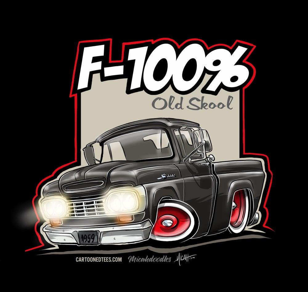 Image of '59 F100% Fleetside Black