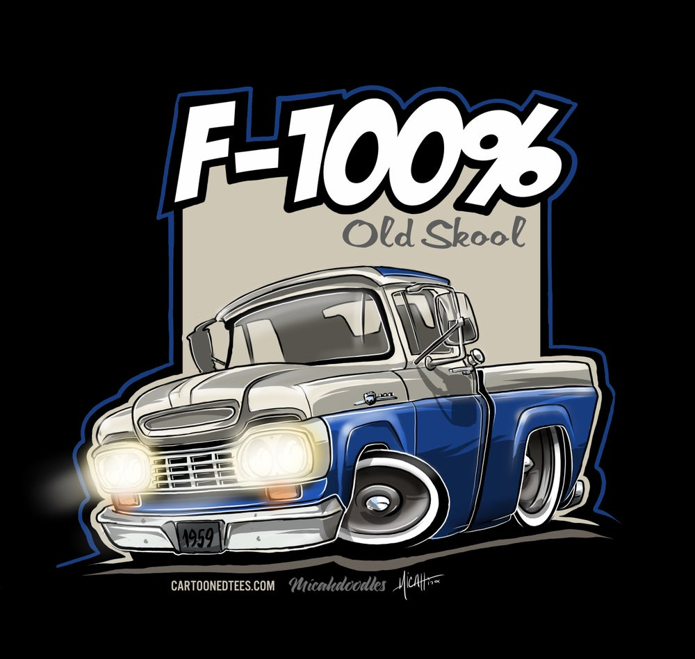 Image of '59 F100% Fleetside White & Blue