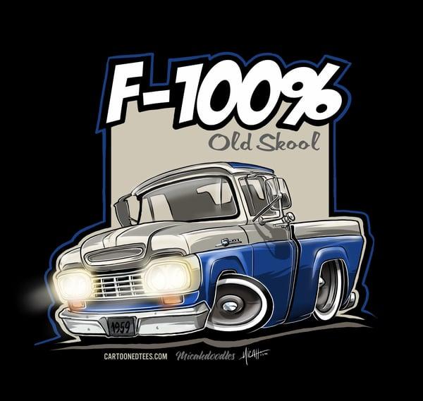 Image of '59 F100% Fleetside White & Blue