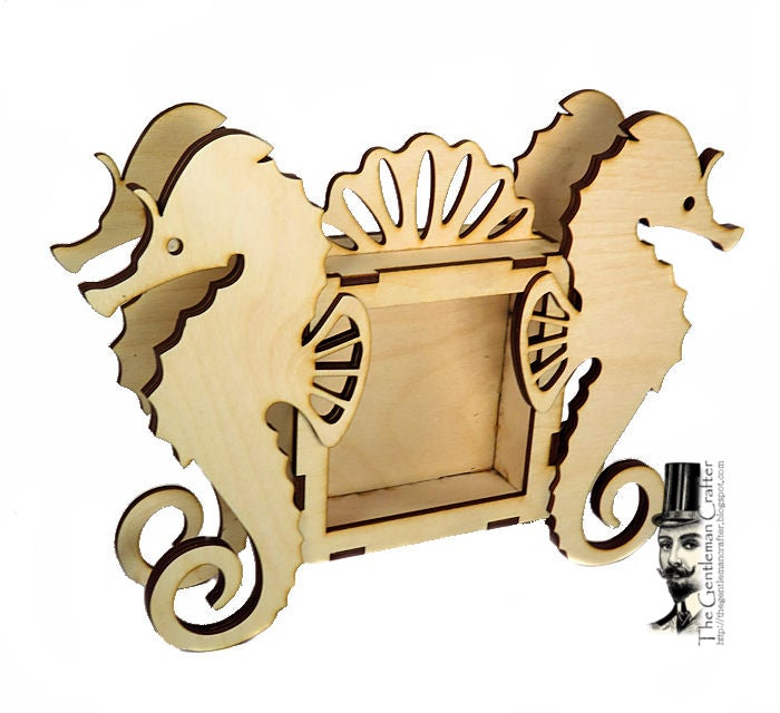 Image of Wood Shrine Kits- Seahorse Shrine
