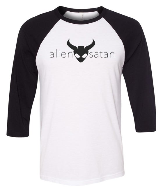 Image of OFFICIAL - ALIEN SATAN - 3/4 SLEEVE SHIRT - BLACK LOGO