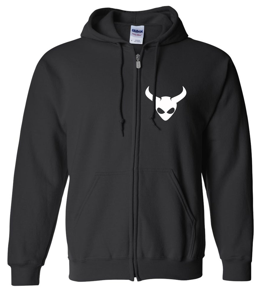 Image of OFFICIAL - ALIEN SATAN - ZIP HOODIE