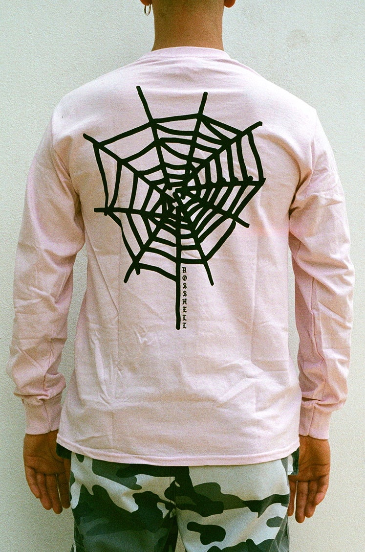 Image of pink WEB long sleeve