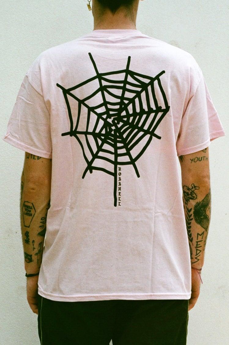 Image of pink WEB T Shirt