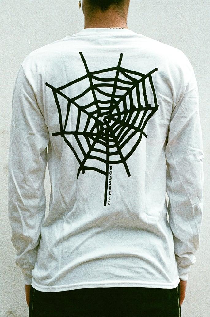 Image of white WEB long sleeve