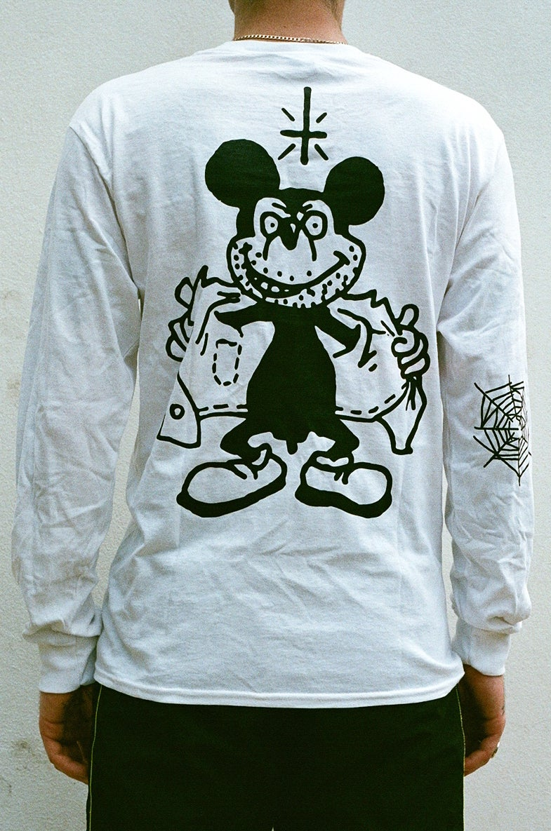 Image of white MICKEY long sleeve