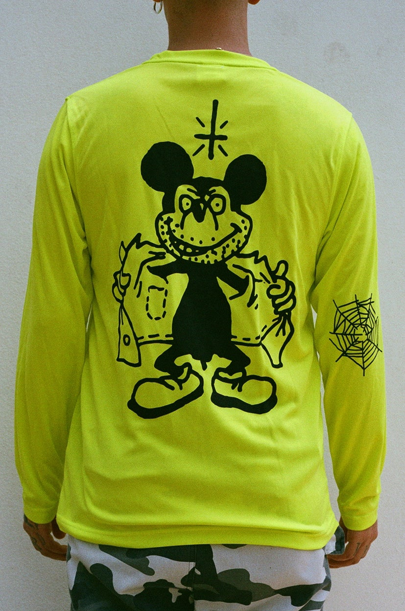 Image of neon MICKEY long sleeve (football knit)