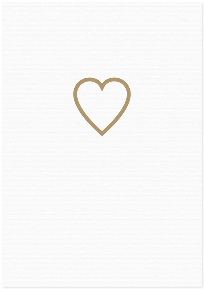 Image of love heart | lined gold