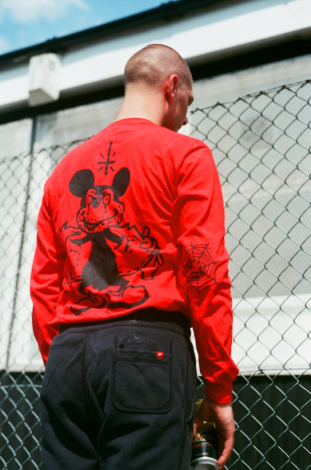 Image of red MICKEY long sleeve