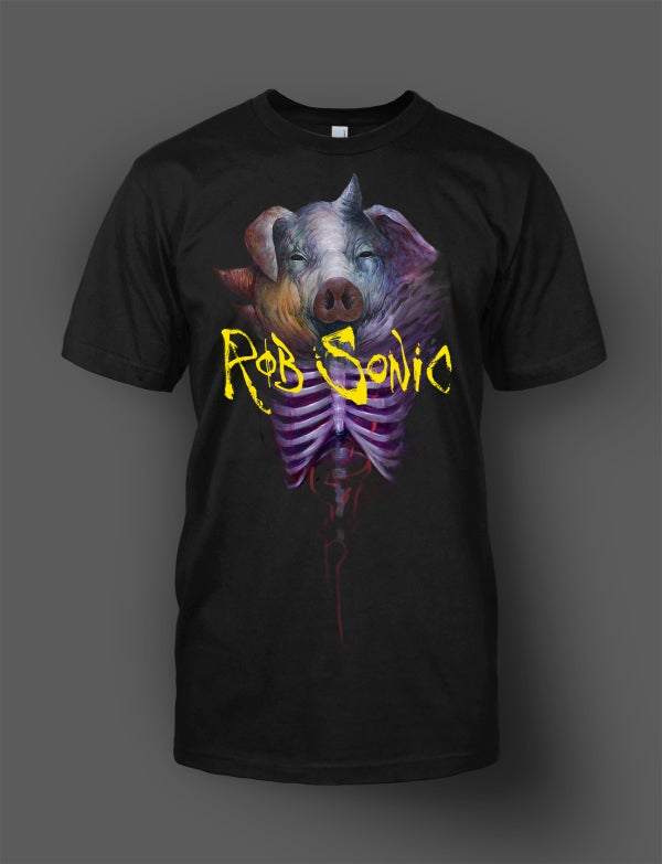 "Image of Rob Sonic ""Pig Headed"" T. by Dave Correia ""In Stock"""