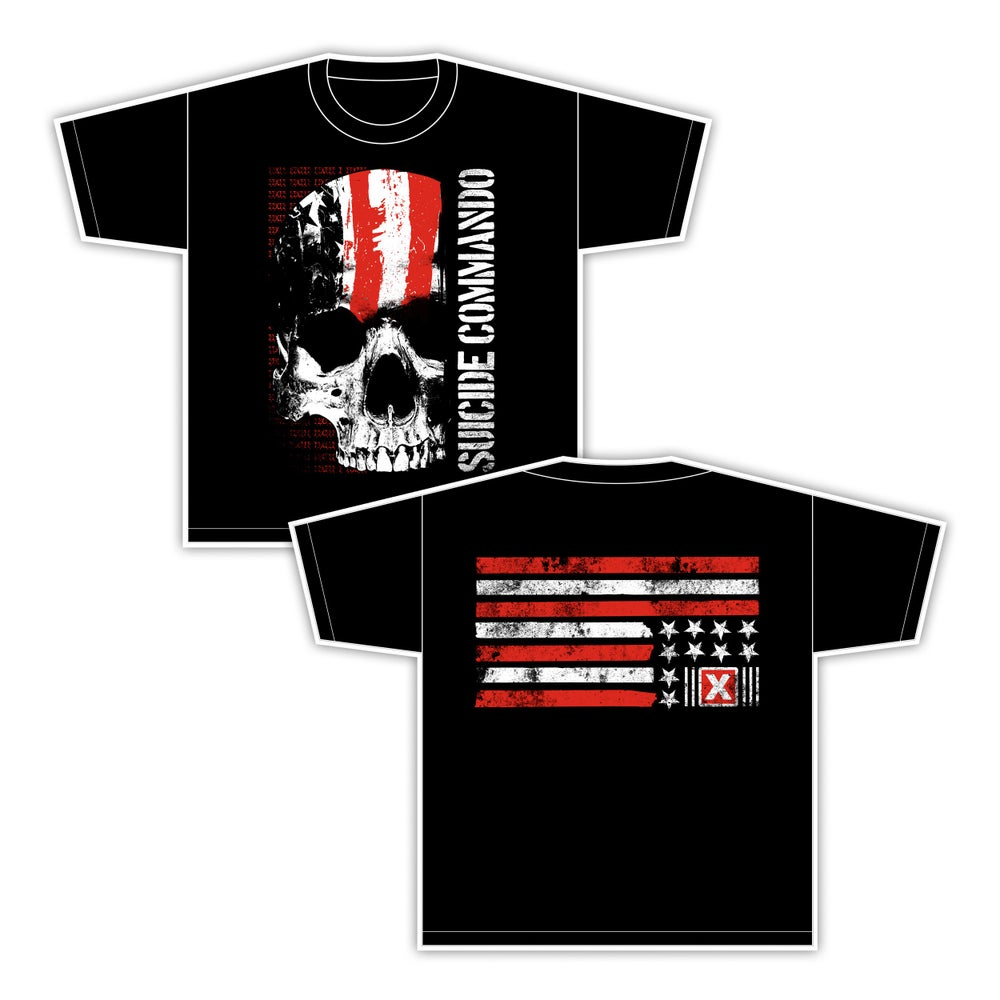 Image of SUICIDE COMMANDO flag shirt (men OR women)