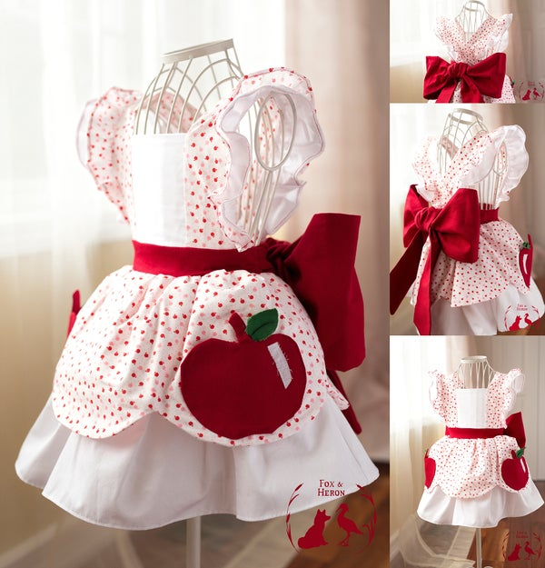 Image of Apple pockets pinafore