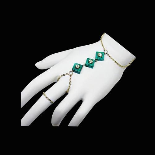 Image of Triple Malachite Hand Chain