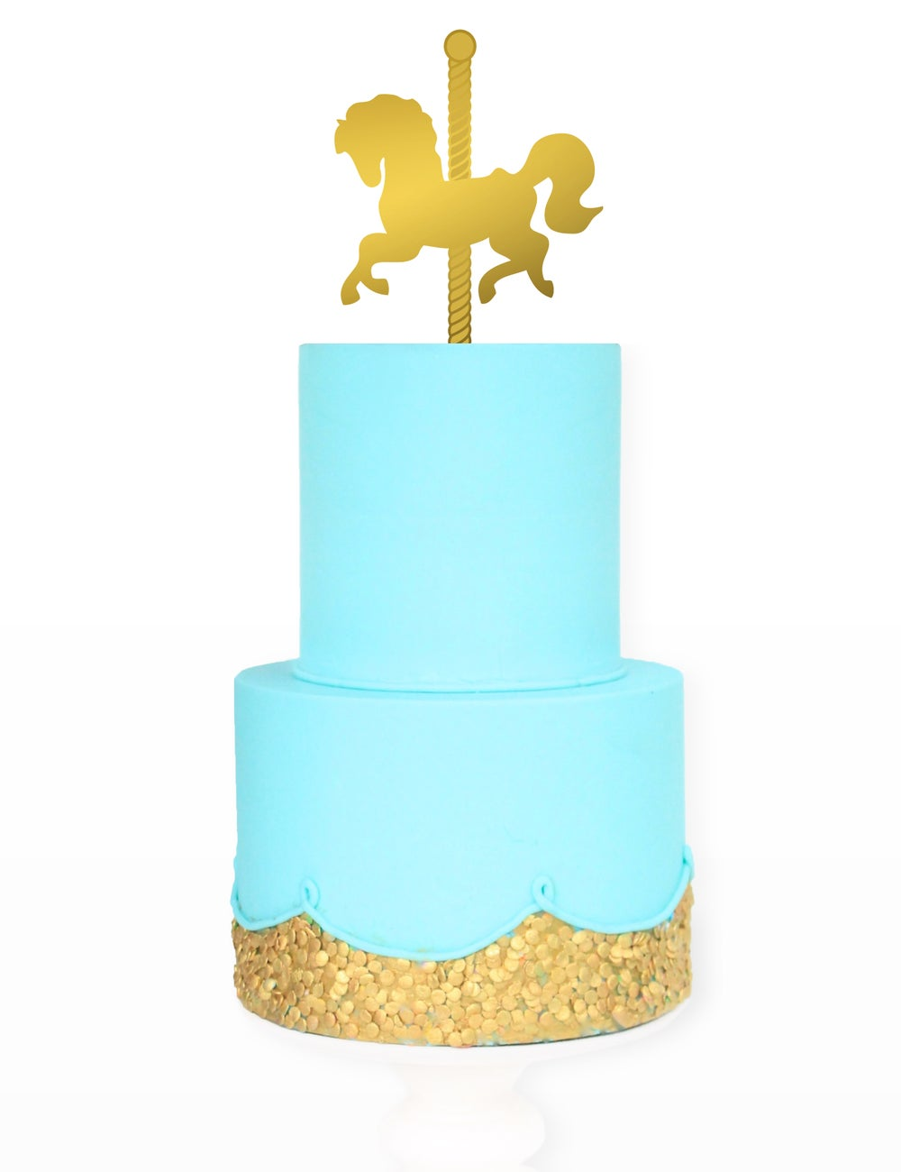 Image of Carousel Horse Engraved Cake Topper