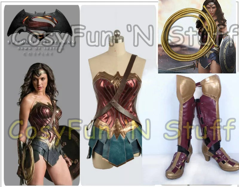 Image of Custom Size Wonder Woman Batman v Superman Justice League Complete Cosplay Costume