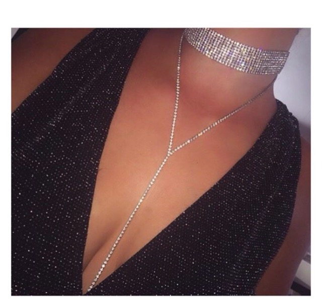 Image of Diamante Chain Choker