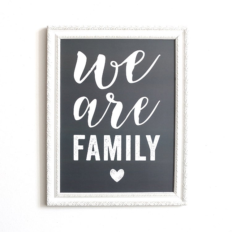 Image of AFFICHE 30X40 CM / WE ARE FAMILY / ARDOISE