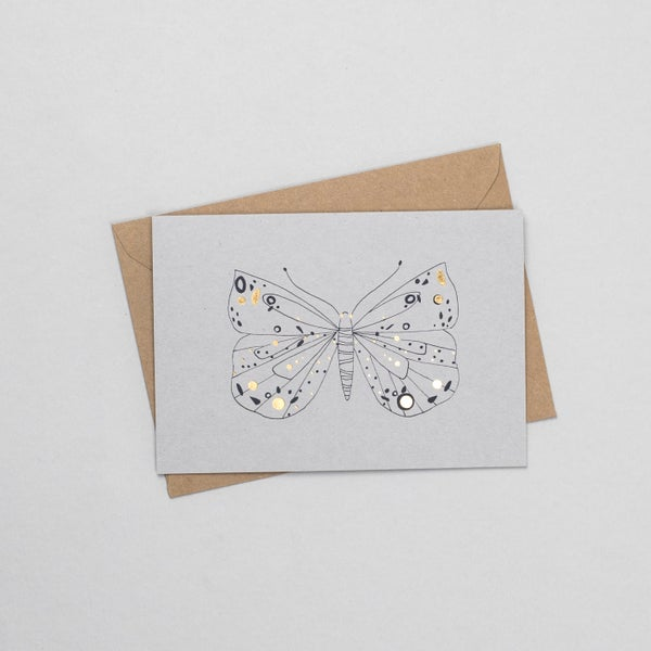 Image of Glitter Butterfly Card