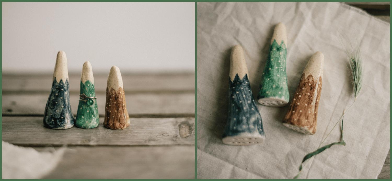Image of Ring Cones | Montañitas Porta Anillos de Loza
