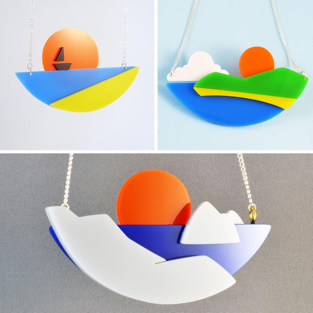 Image of Seaside Sunset necklace