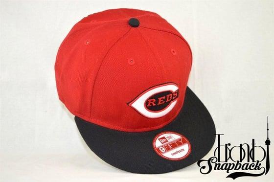 Image of Cincinnati Reds Red & Black New Era 950 Snapback