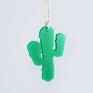 Image of Cactus Necklace and Cactus Brooch