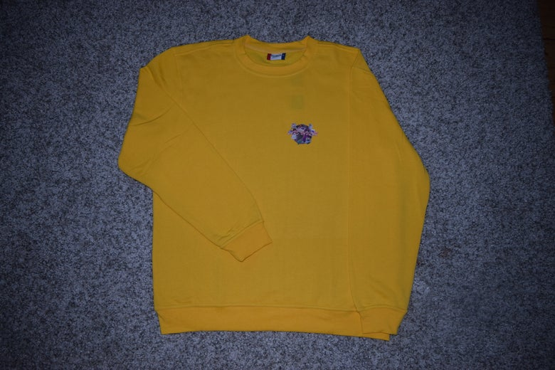 Image of LV loading INTERNET SICK - YELLOW CREWNECK