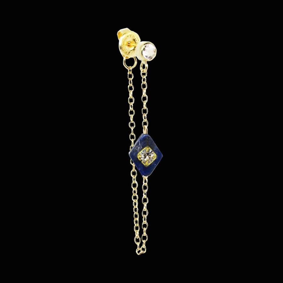 Image of Topaz & Lapis Lazuli Ear Jacket