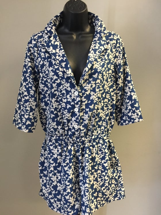 Image of VTG BLUEBERRY BOTANICAL WISPY ROMPERS/M