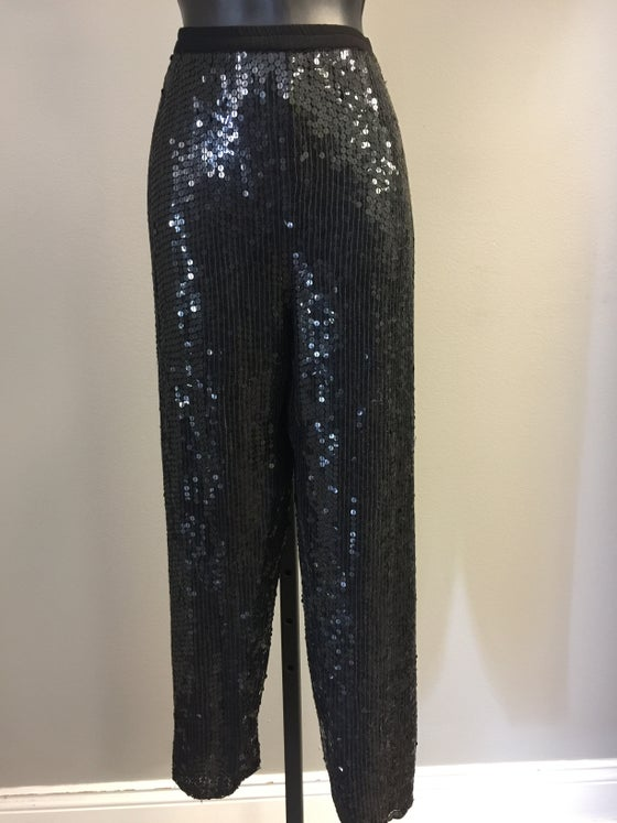 Image of VTG SILK SEQUINED BAGGY HAREM PANTS S/M