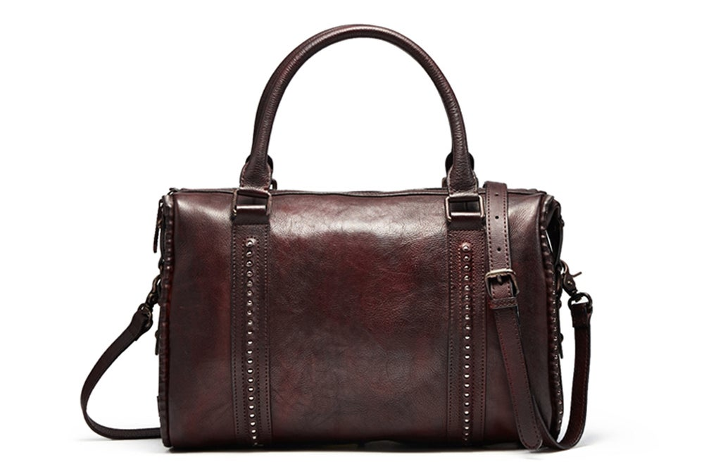 Image of Handmade Full Grain Leather Messenger Bag, Designer Handbag F73