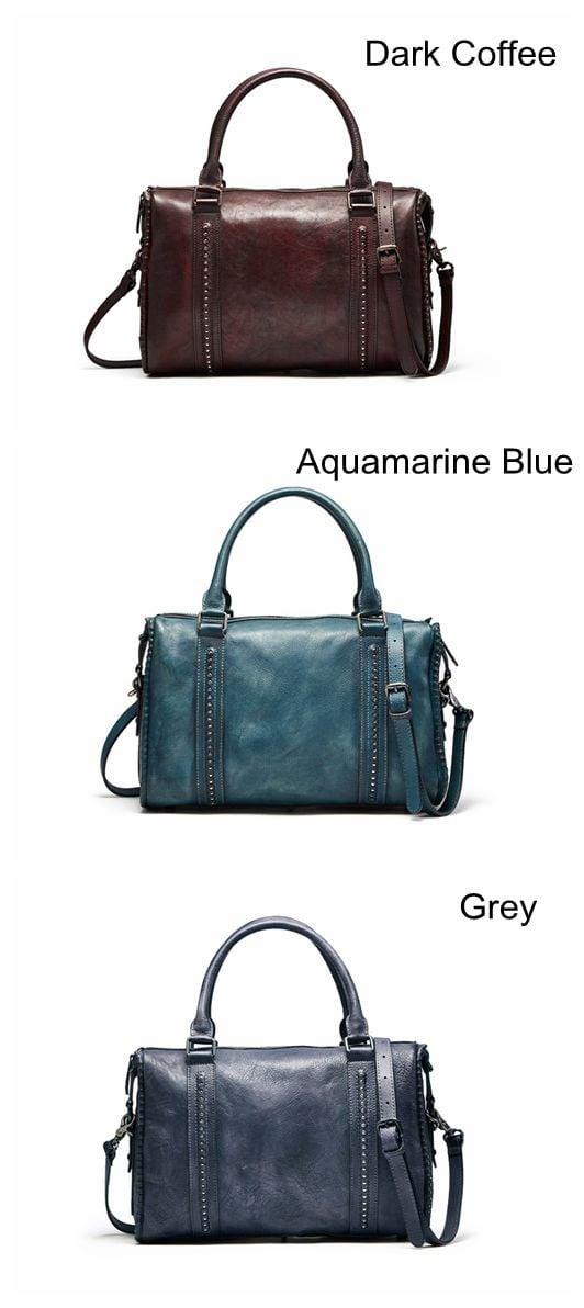 Handmade Full Grain Leather Messenger Bag Designer Handbag F73