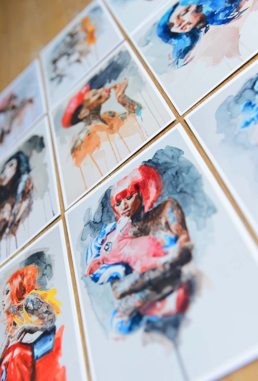 Image of 9x Watercolour Art Cards