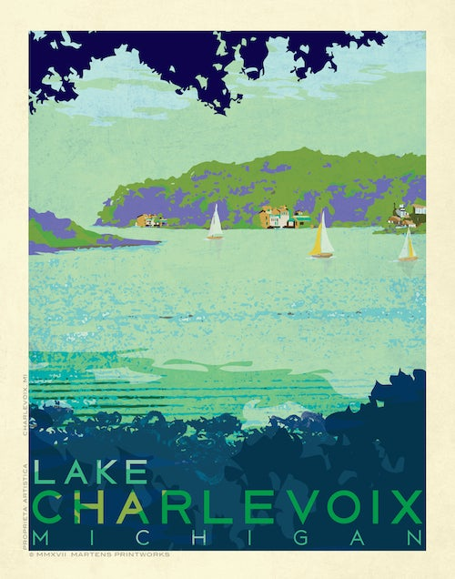 Image of Lake Charlevoix Limited Edition 11x14 Print No. [075]